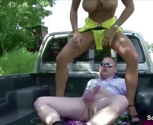 Extrem Sexy German Hooker get Fuck Outdoor by Stranger