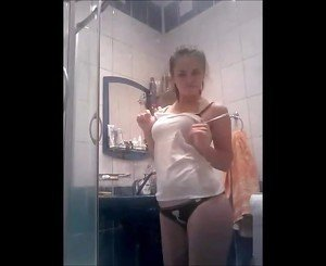 Teen Undressing Before Shower