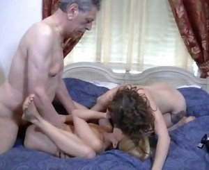 Old Man Fucks 2 Teens