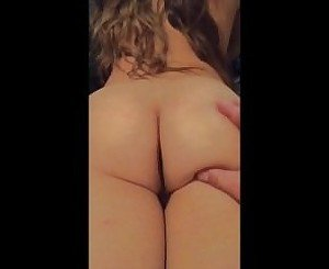 Slow motion fat ass jiggle of a pornstar at home