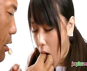 Japanese innocent schoolgirl abused by oldman