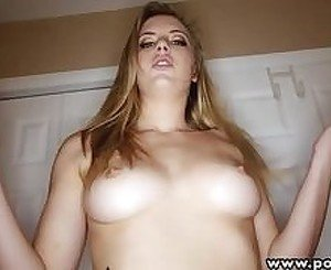 POVLife Natural sexy ass blonde girlfriend sucks and rides her BFs bigcock