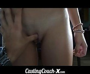 Casting Couch-X Midwestern blonde likes showing off