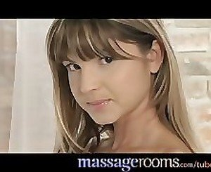 Massage Rooms Skinny petite teen enjoys having tight hole explored