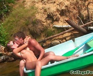 Real euro teen doggystyled outdoors
