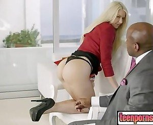 Business Blonde Wife Ass Fucked By a BBC part