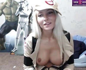 She dresses up in a Ghostbusters costume _ Webcamvideo