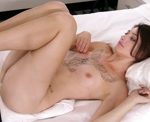College babe with a tight pussy loves nudity