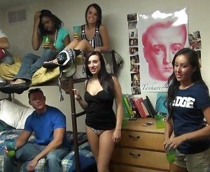 College students having fun
