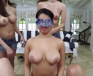Hot ladies love pussy and blindfold games